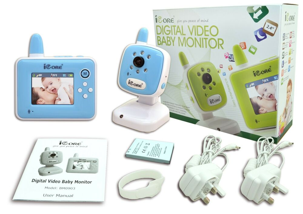 new baby monitors wireless video baby camera monitor night vision with zoom ebay. Black Bedroom Furniture Sets. Home Design Ideas