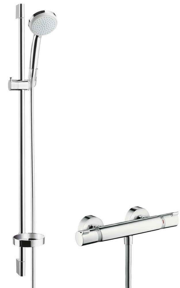 Hansgrohe Croma Ecostat Comfort Exposed Shower