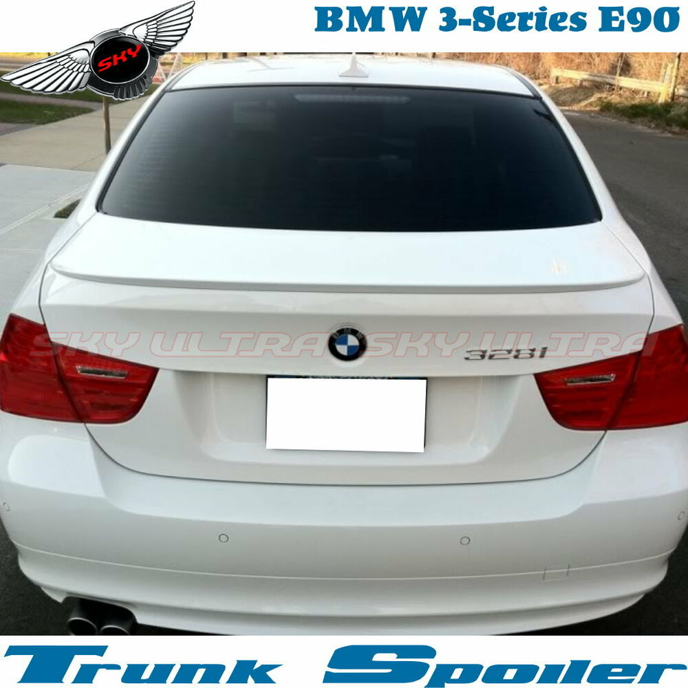 PAINTED BMW E90 3-SERIES M3 TYPE REAR TRUNK SPOILER WING