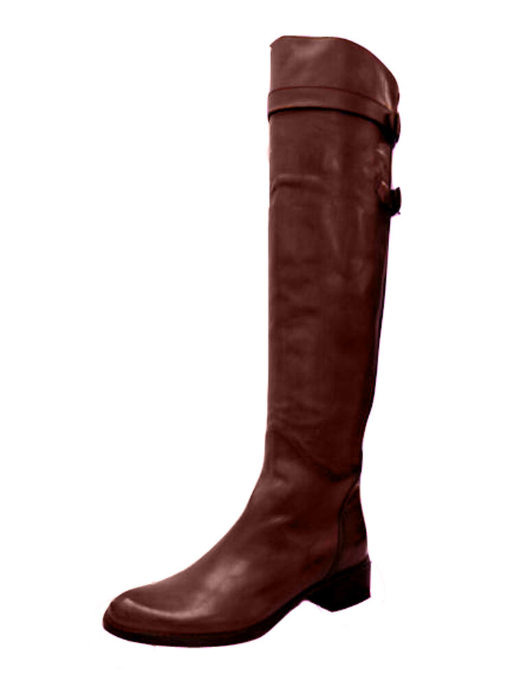 s italian leather the knee flat boots 668218 by