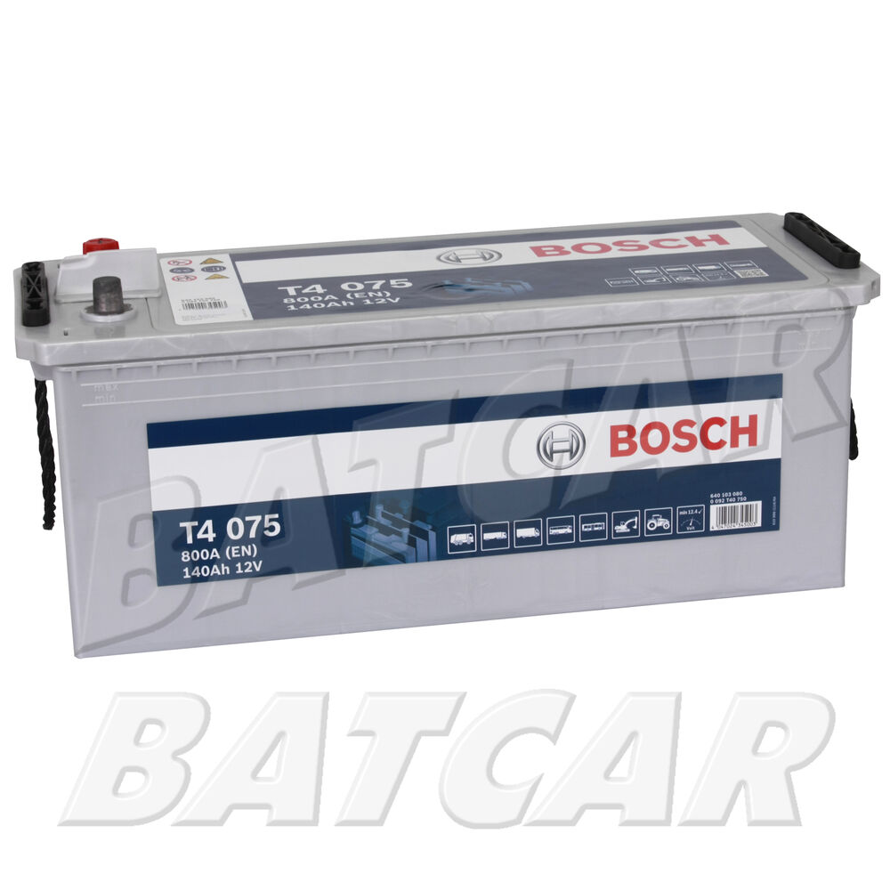 bosch t4 12v 140ah 800en lkw batterie baumaschinen land. Black Bedroom Furniture Sets. Home Design Ideas