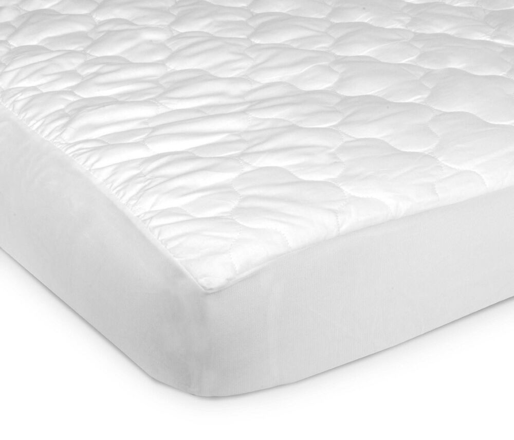 crib pad waterproof extra thick 4 ply fitted quilted toddler mattress