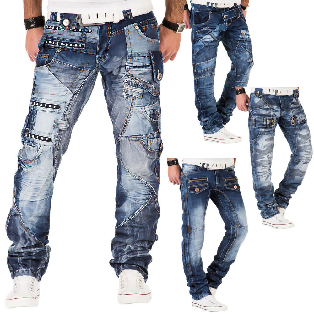 kosmo lupo herren jeans hose denim japan style double cargo clubwear used blau ebay. Black Bedroom Furniture Sets. Home Design Ideas