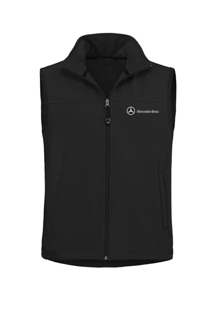 Mercedes benz men 39 s water resistant soft shell vest 100 for Mercedes benz clothes and accessories