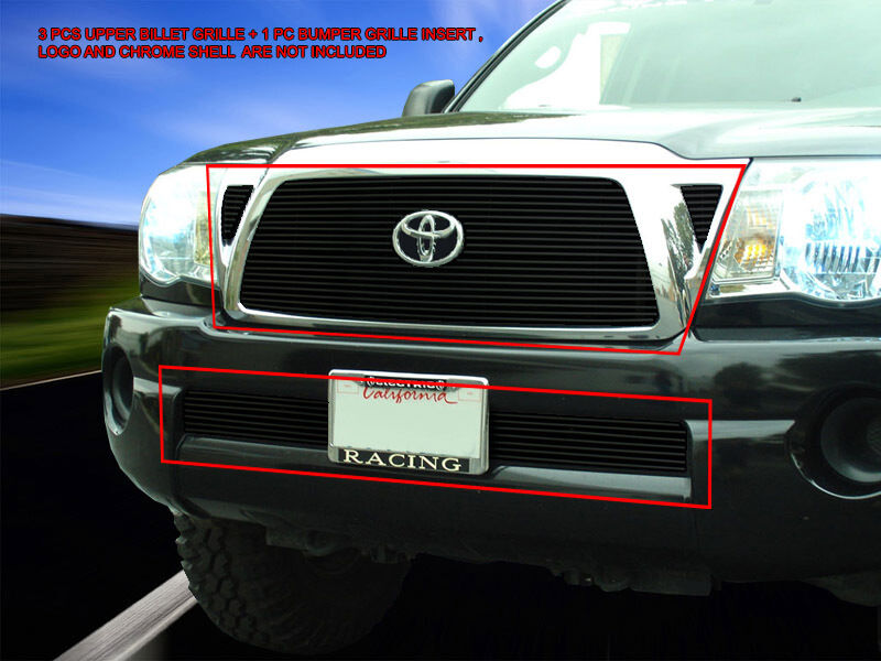 fedar black billet grille grill combo insert for toyota. Black Bedroom Furniture Sets. Home Design Ideas