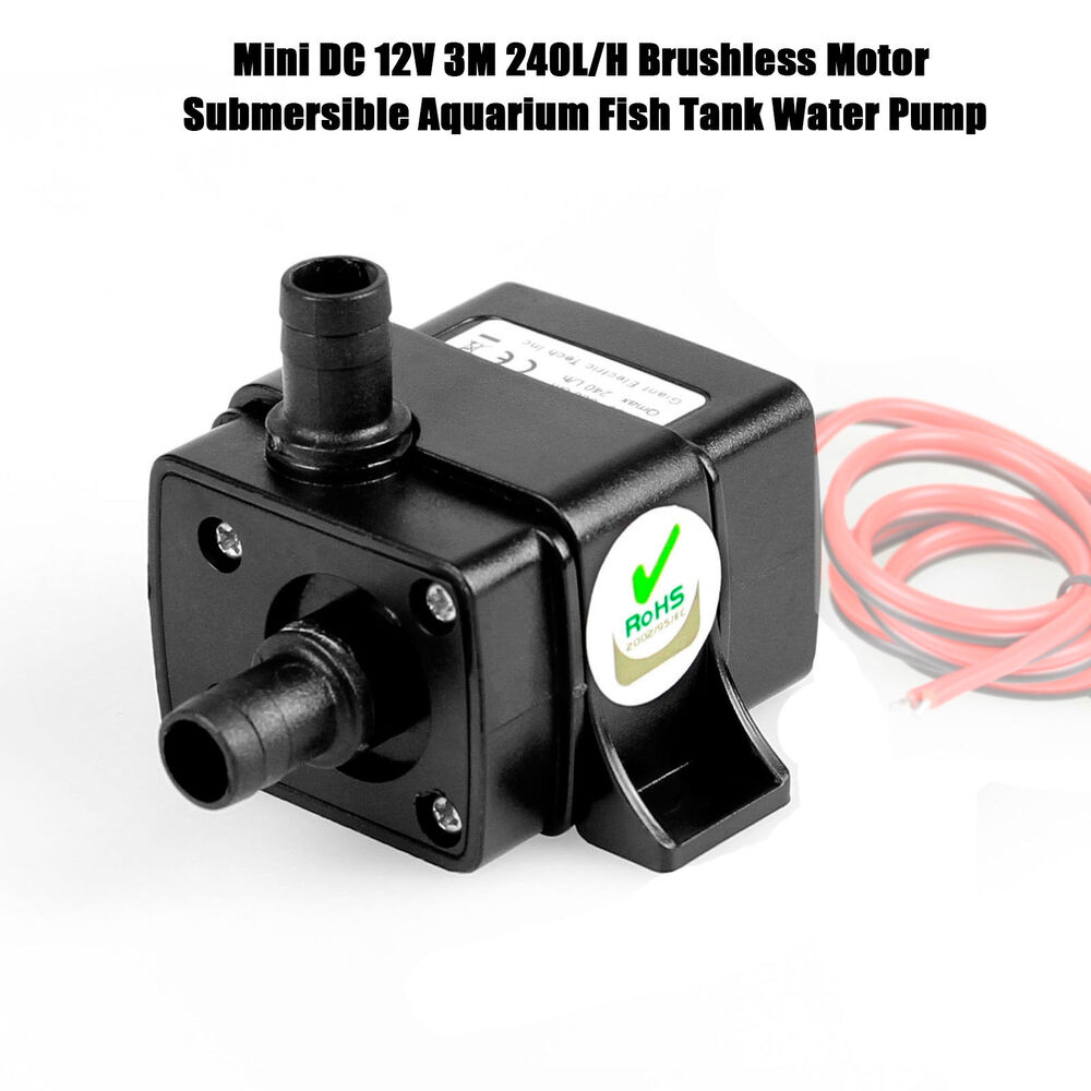 mini dc 12v 3m 240l h brushless motor submersible aquarium