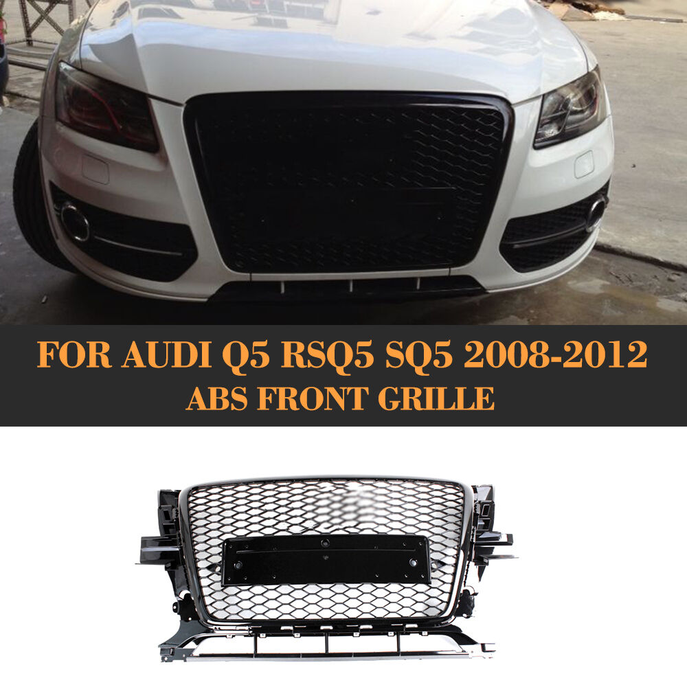 RSQ5 Style Front Glossy Black Grille Honeycomb Grill Fit for Audi Q5 2010-2012 | eBay