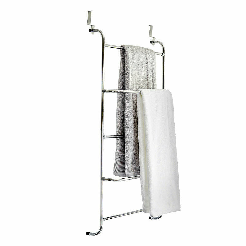 lakeland over door clothes airer towel rack silver ebay. Black Bedroom Furniture Sets. Home Design Ideas