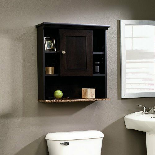 Bathroom wall cabinet shelf storage vanity organizer espresso bath linen shelves ebay for Bathroom wall vanity cabinets