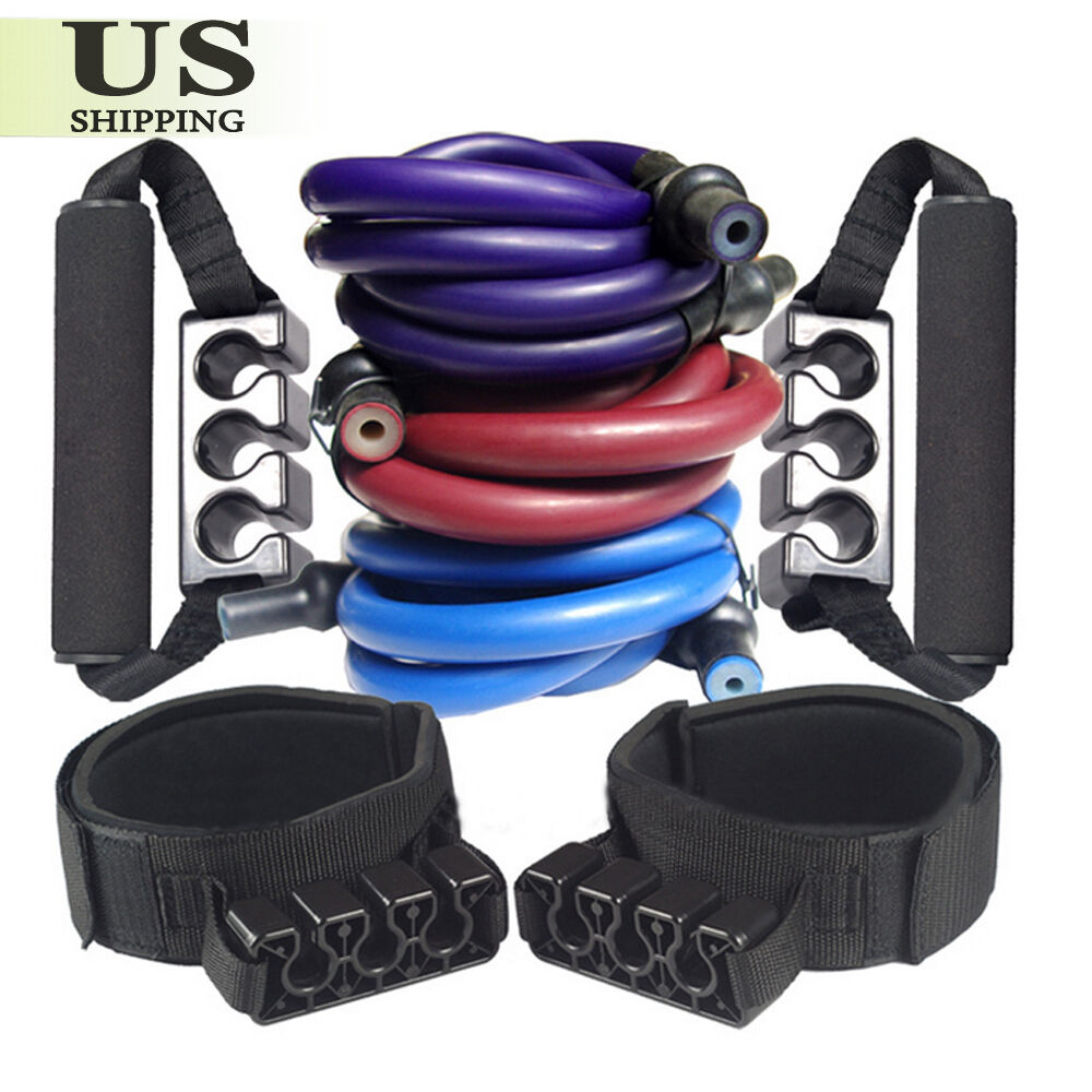 90/100lbs Resistance Bands Set Workout Exercise Yoga