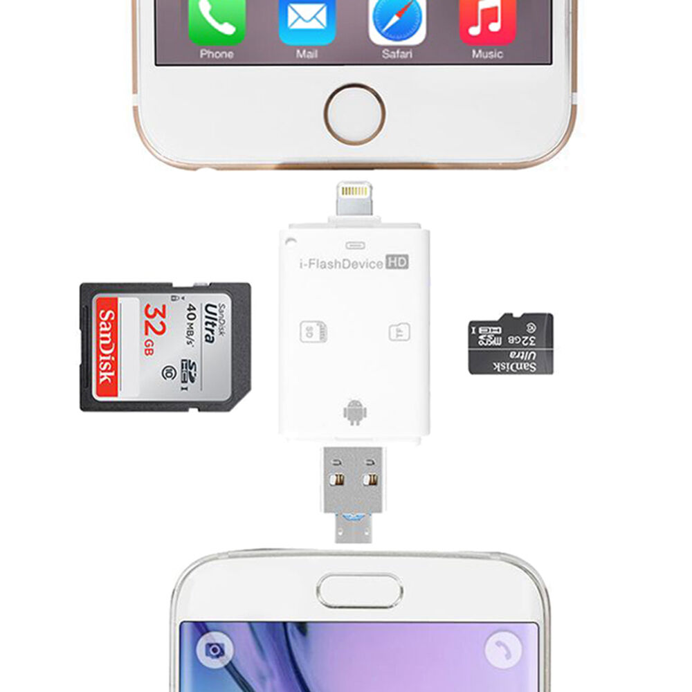 sd card reader for iphone usb lightning tf sd memory card reader for iphone 5s 6s 7 2757