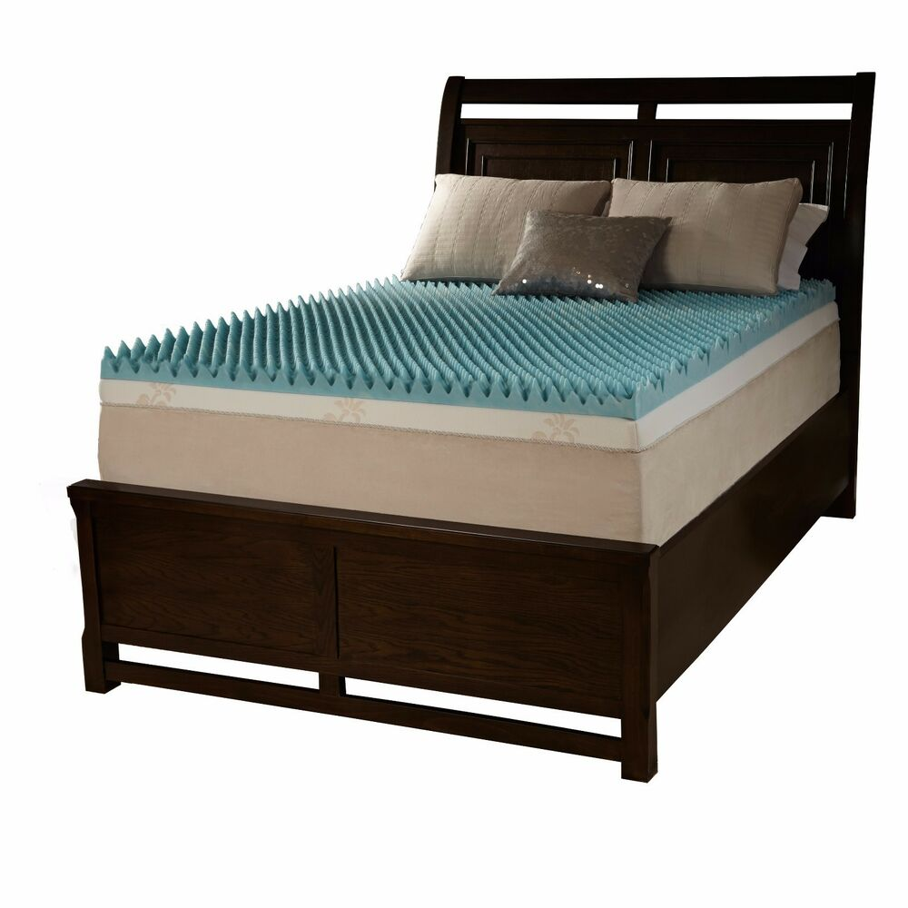 """NEW COOL 3"""" TEXTURED PLUSH FORT MEMORY FOAM GEL BED"""