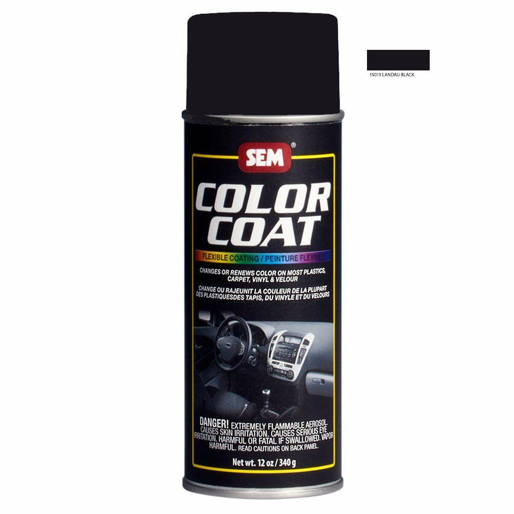 sem color coat system 15013 landau black aerosol vinyl