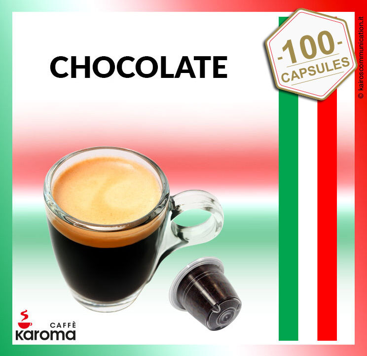 100 capsules compatible nespresso pods creamy chocolate exp 08 18 karoma ebay. Black Bedroom Furniture Sets. Home Design Ideas