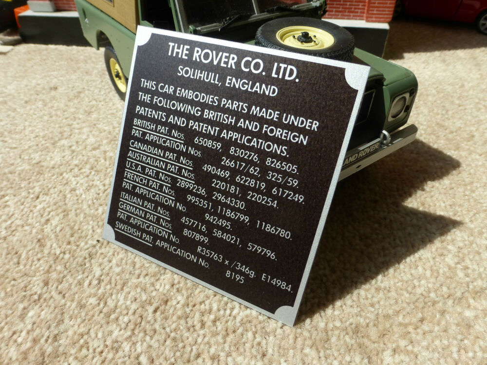 Land Rover Series 1 2 2a Bulkhead Patents Chassis