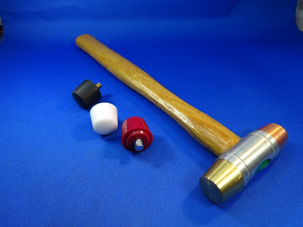 Gunsmith 5 Head Face Hammer Brass Copper Nylon Rubber