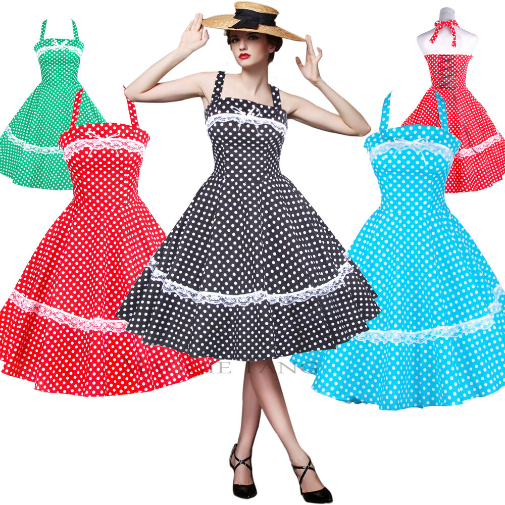50er jahre tanz kleid zum petticoat rockabilly 503 ebay. Black Bedroom Furniture Sets. Home Design Ideas