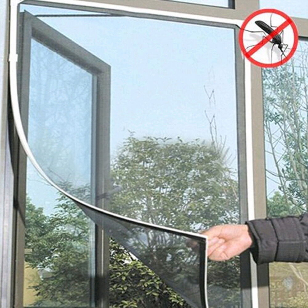 White large window screen mesh net insect fly bug mosquito for Insect door screen