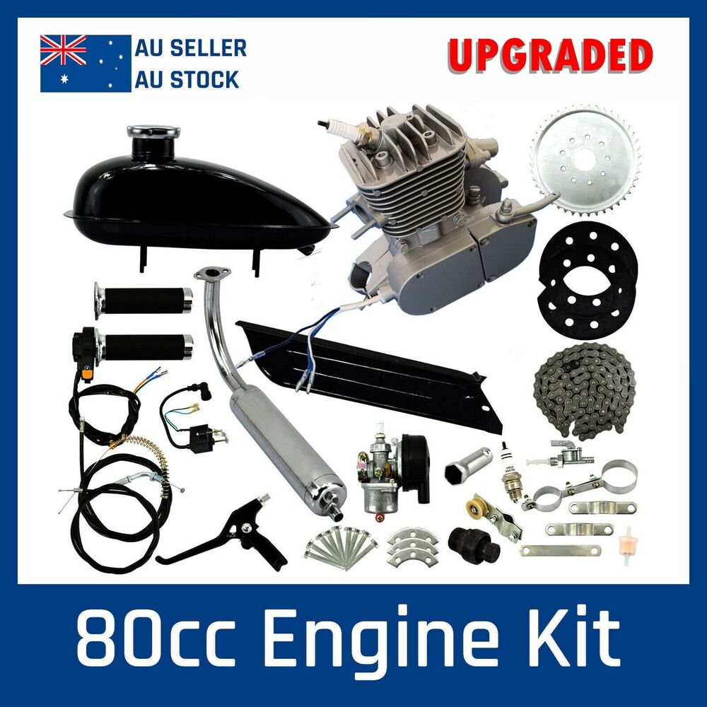 New 80cc 2 Stroke Motor Engine Kit Set For Motorised