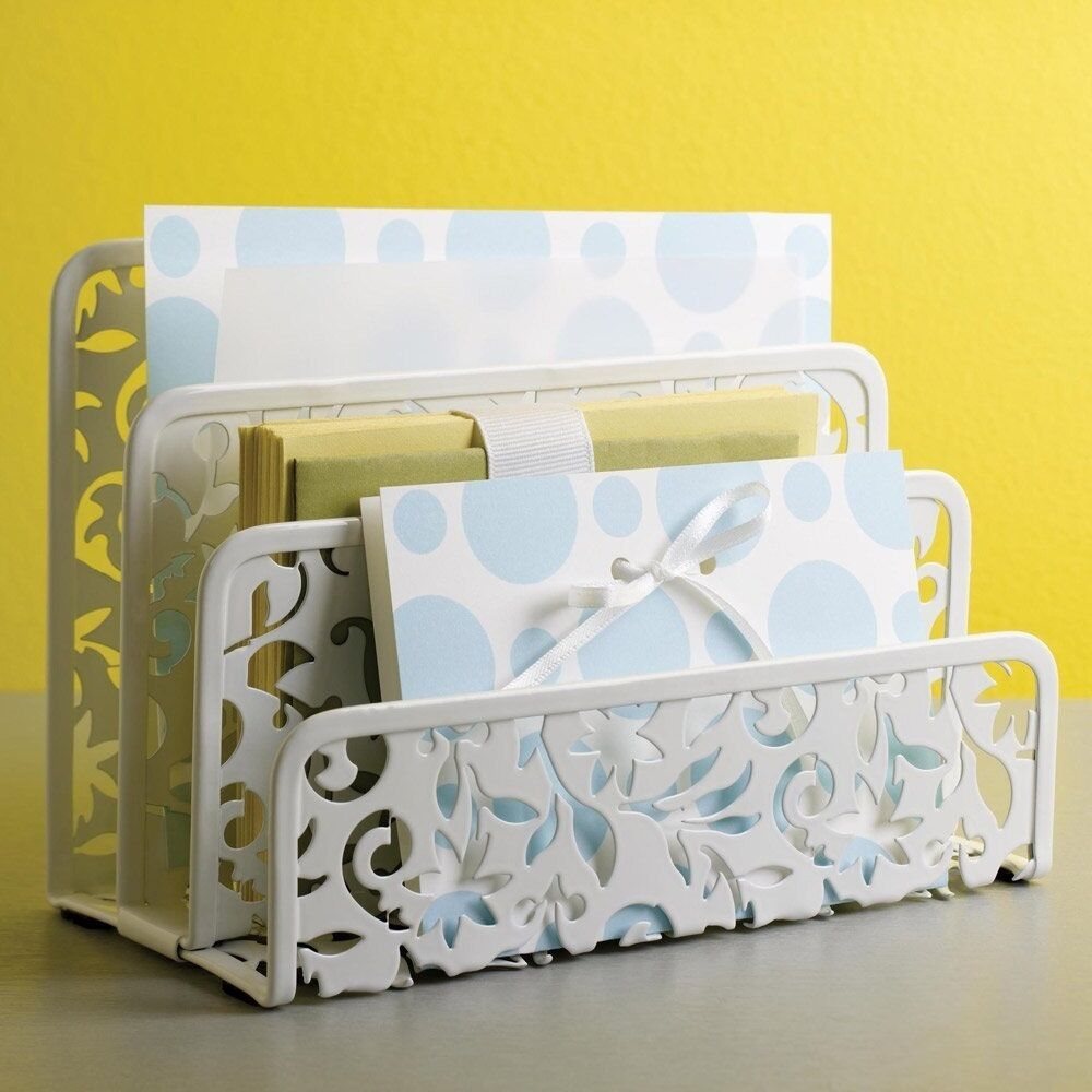 Letter mail holder sorter organizer desk home office for Kitchen set letter l