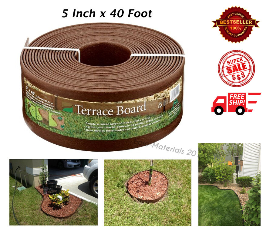 Landscape Edging Terrace Board : Terrace board plastics brown landscape edging stuff plants garden yard