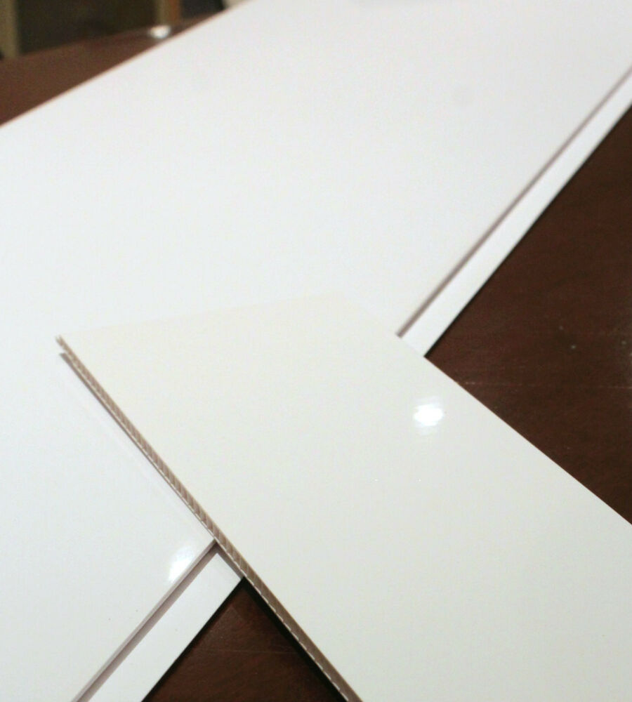 2 Plain White Bathroom Wall Ceiling Panels Pvc Plastic