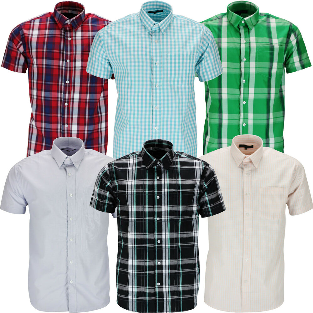 New mens shirt short sleeve casual button up summer luxury for Short sleeve button up shirts