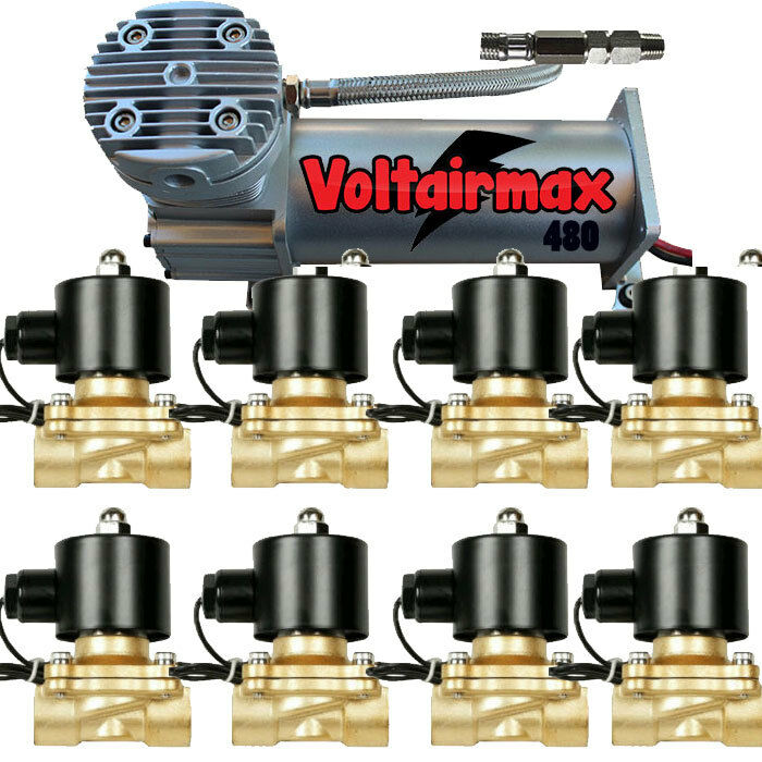 voltair 480c compressor 1  2 u0026quot  125psi valves air ride