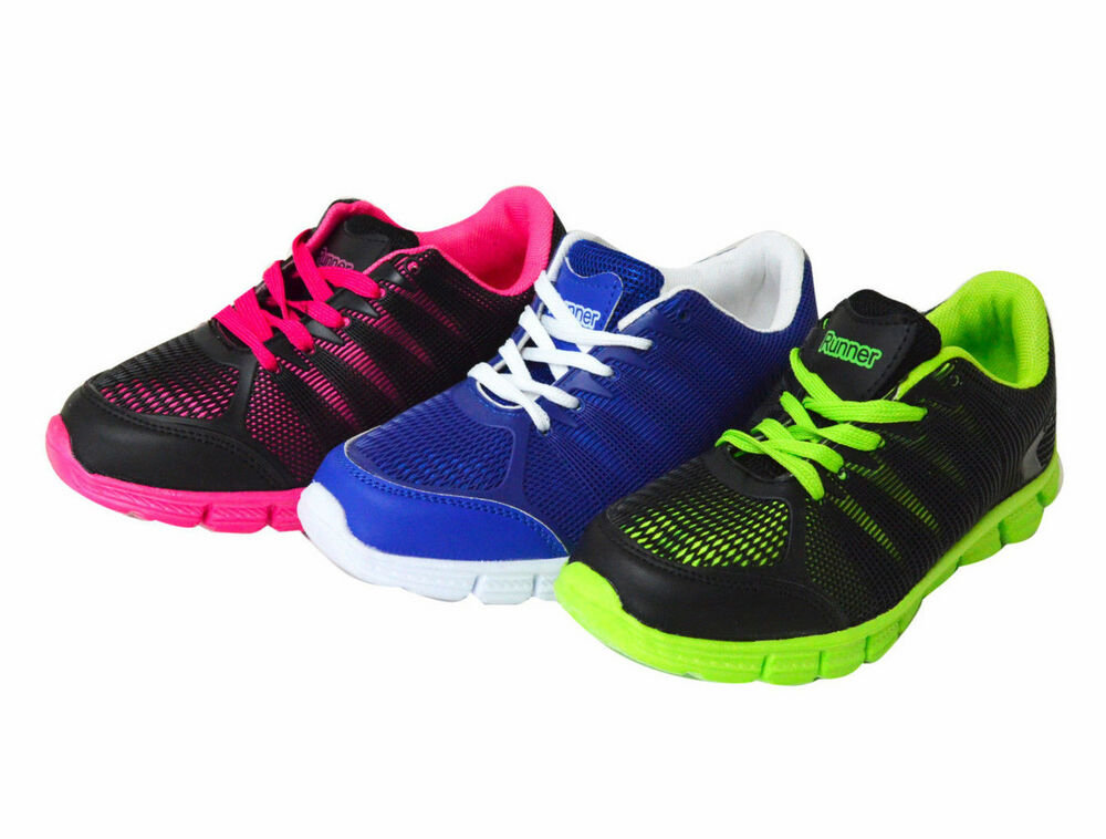 NEW KID'S Running Athletic Sport Neon Color Pop Sneakers ...