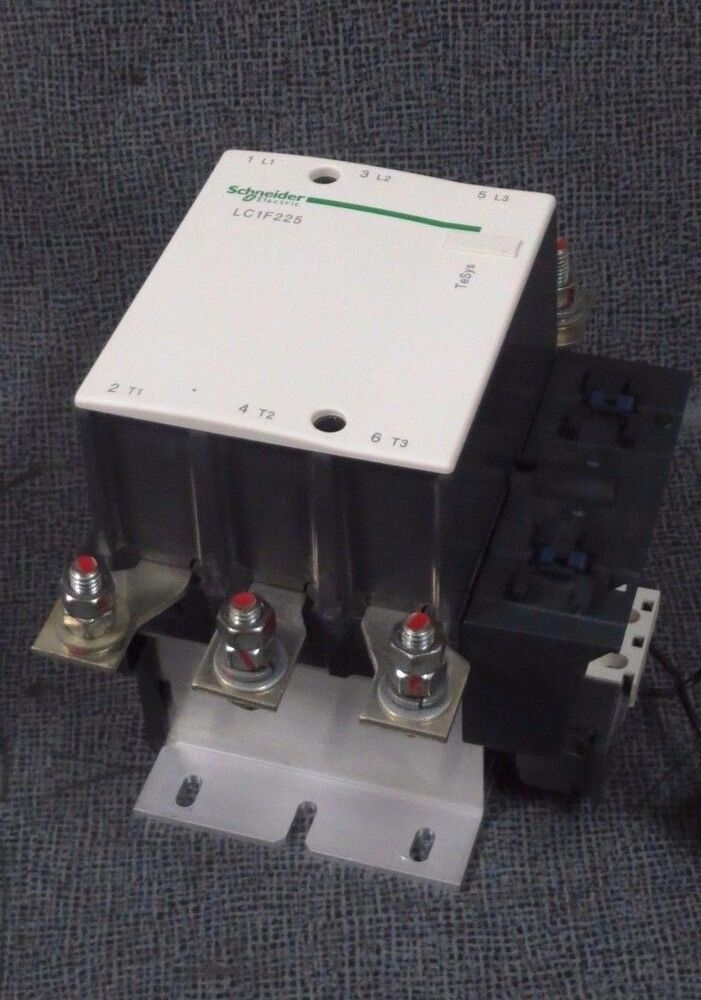 Schneider contactor lc1f225 250 amp 600 vac 150 hp 3 phase for 3 phase motor hp to amps