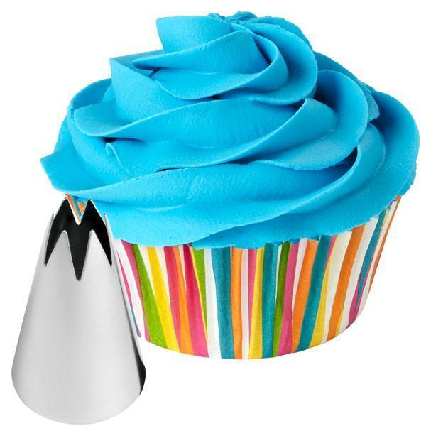 New wilton 1m tip open star drop flowers icing cake for Star decorating tip