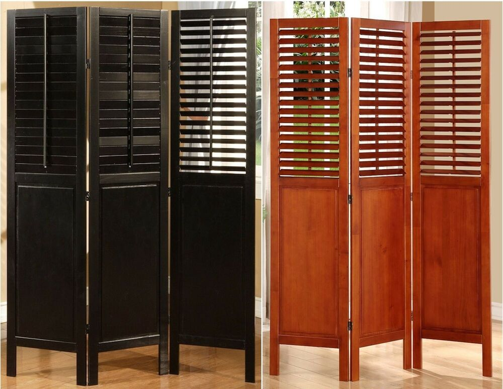 Wood Screens Room Dividers ~ Panel solid wood screen room divider shutters on top