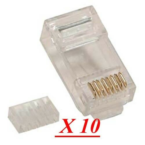 Lot 10 Cat 6 Plugs 2 Parts Cat 6 Module Rj45 Plug For