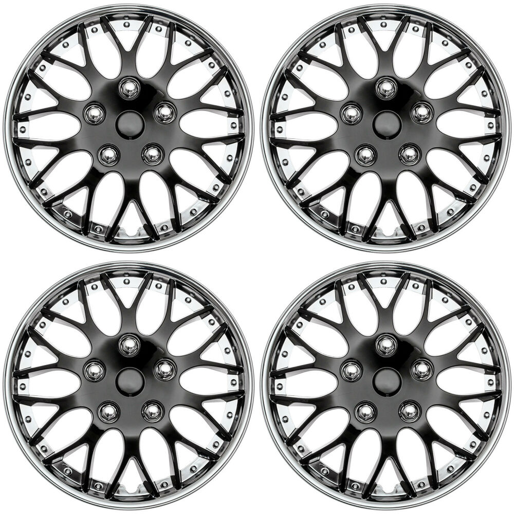 4pc set hub caps ice black chrome trim 16 inch for oem wheel Old Chevrolet Hubcaps 4pc set hub caps ice black chrome trim 16 inch for oem wheel covers cap cover 643129815874 ebay