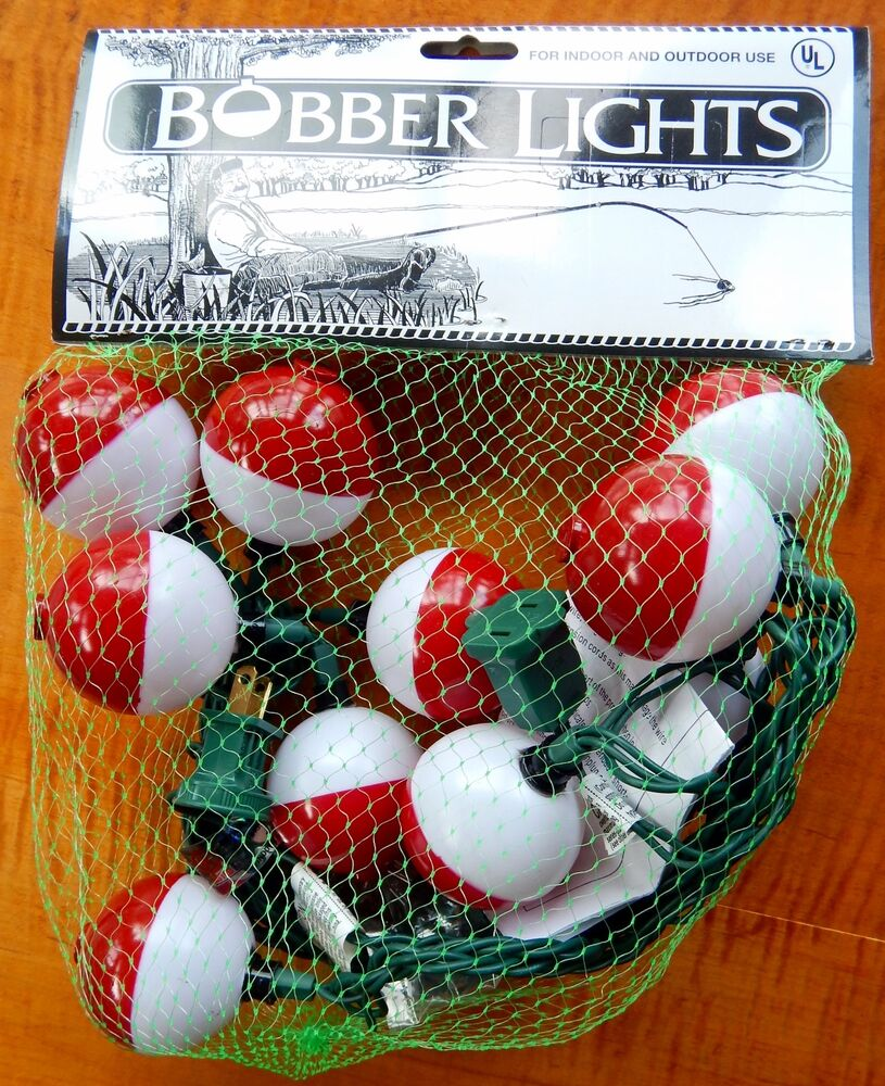 Fishing bobber party lights string of 10 lights new in for Fish string lights