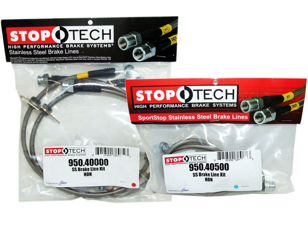 Replacement Steel Brake Lines : Stoptech stainless steel braided brake lines front rear