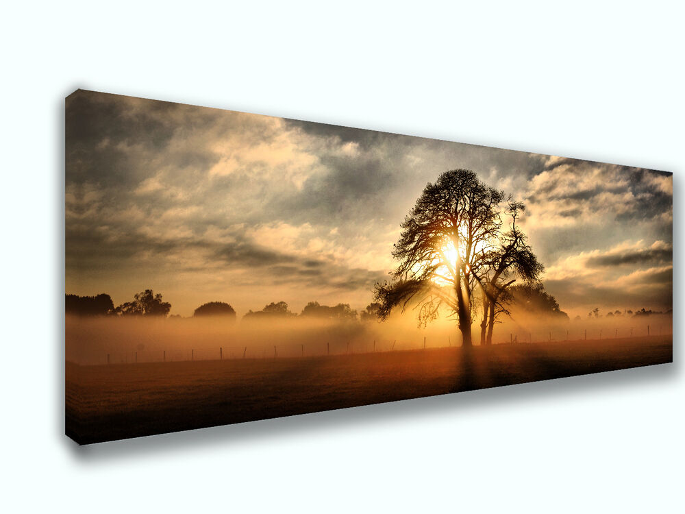 beautiful sunset on the range panoramic picture canvas print home decor wall art ebay. Black Bedroom Furniture Sets. Home Design Ideas
