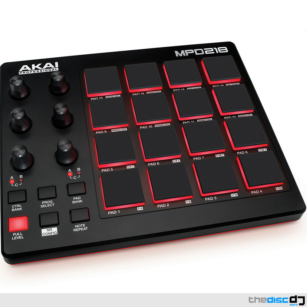 akai mpd218 performance pad controller ableton live lite free software ebay. Black Bedroom Furniture Sets. Home Design Ideas