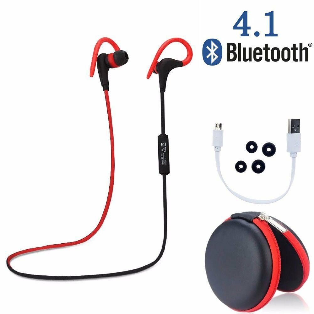 wireless sports stereo sweatproof bluetooth earphone headphone earbuds headset ebay. Black Bedroom Furniture Sets. Home Design Ideas