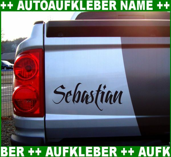 autoaufkleber name aufkleber wunschname auto namen 25 farben sticker folien ebay. Black Bedroom Furniture Sets. Home Design Ideas