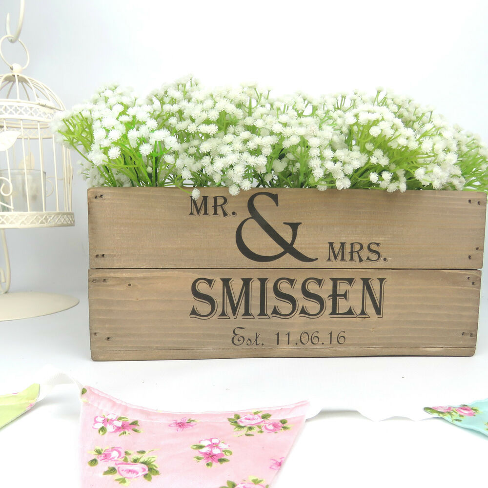 Personalised Wedding Gifts Vintage : ... Vintage Style Small Wooden Apple Crate Wedding Crate Wedding Gift