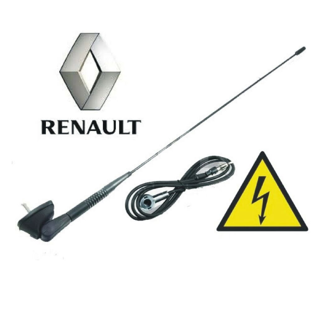 renault clio megane laguna scenic kangoo dachantenne mit antennenfu dichtung ebay. Black Bedroom Furniture Sets. Home Design Ideas