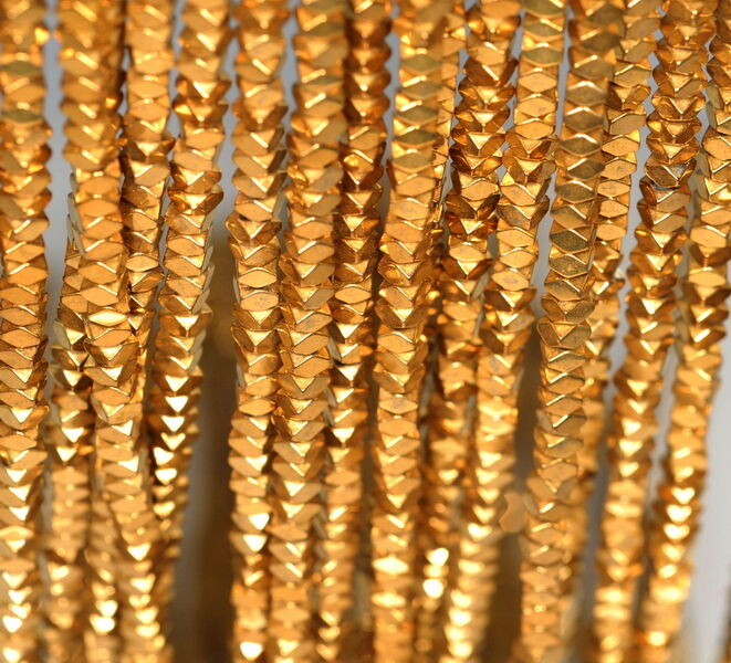 4X4MM GOLD HEMA... Gold Hematite Beads