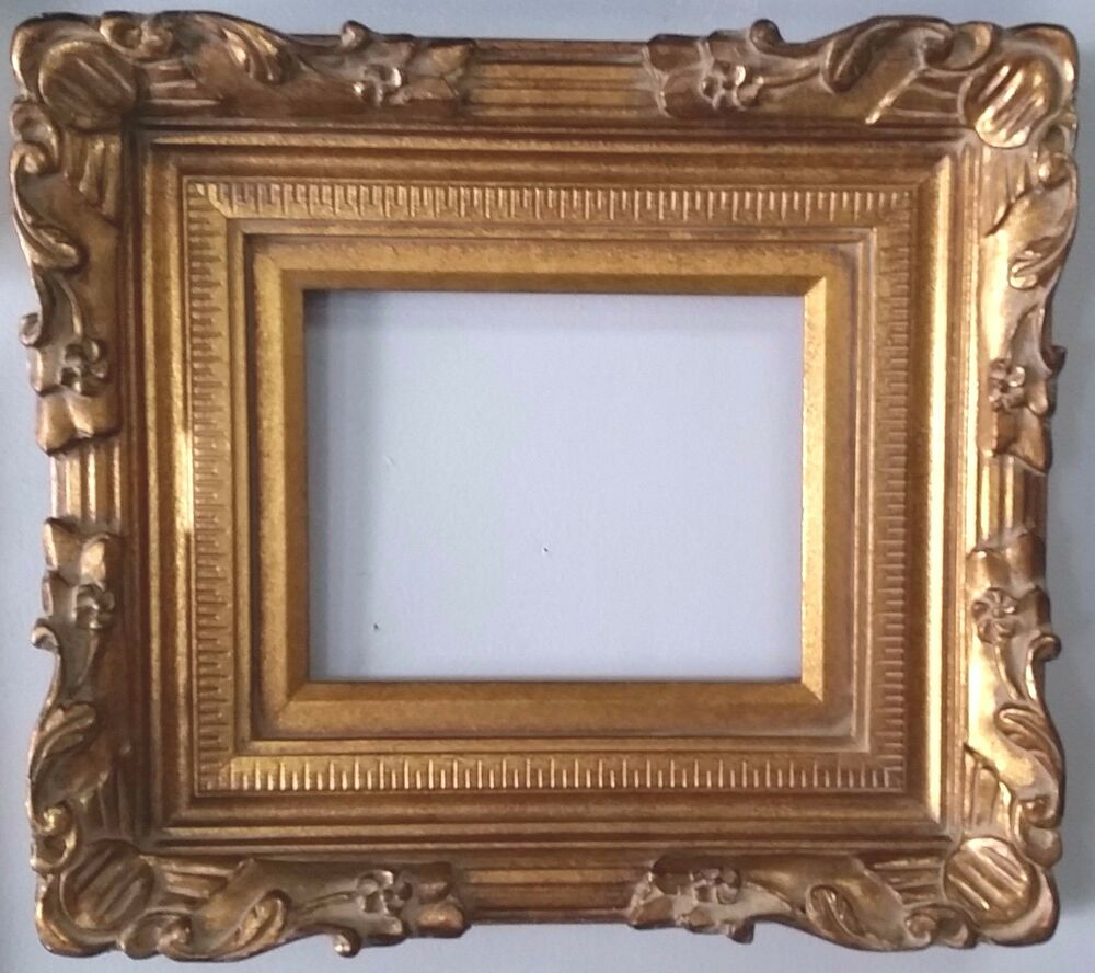 Gold Ornate Wood Picture Frame 5 Quot Wide Ebay