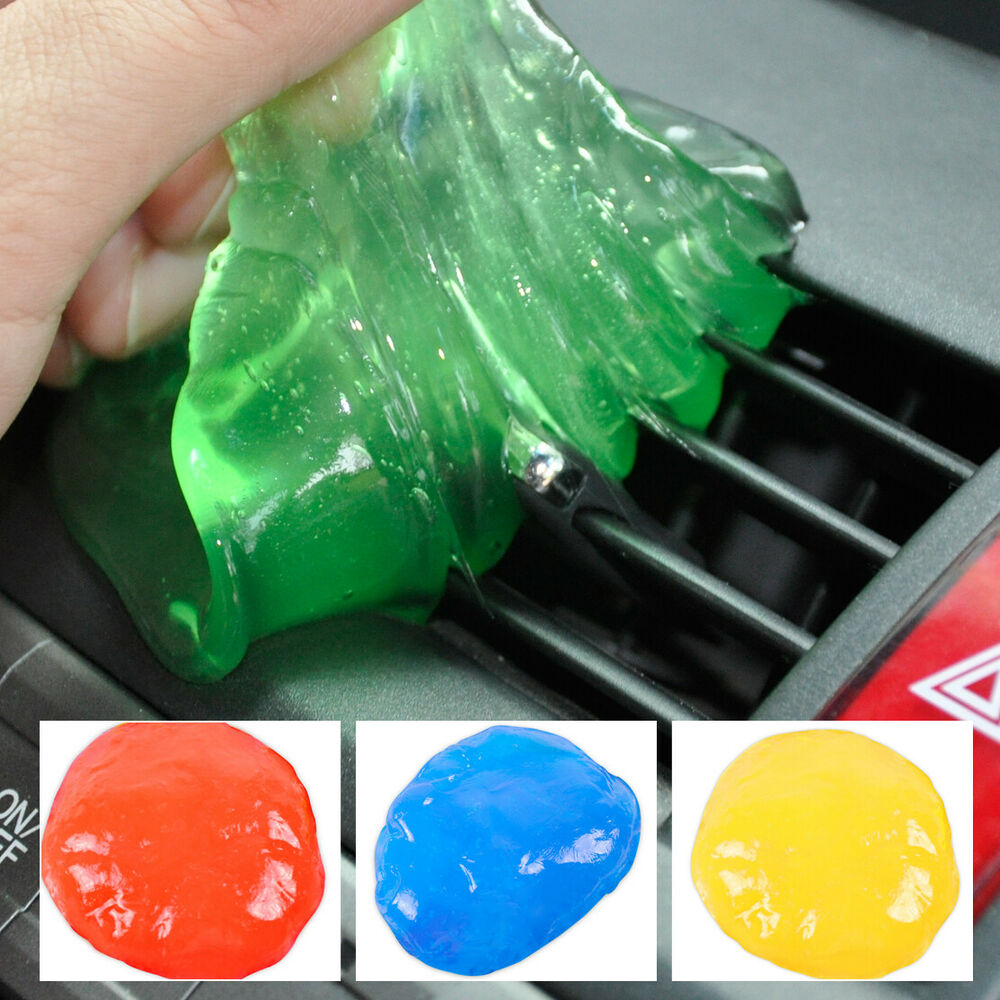yellow auto car clean glue gum gel interior air outlet vent dust dirt dashboard ebay. Black Bedroom Furniture Sets. Home Design Ideas