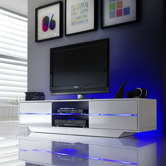 Led Tv Stand Designs Chennai : Sienna tv stand unit in high gloss with multi led lights