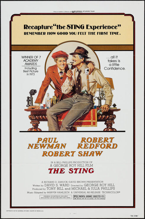 the sting r1977 original movie poster best picture