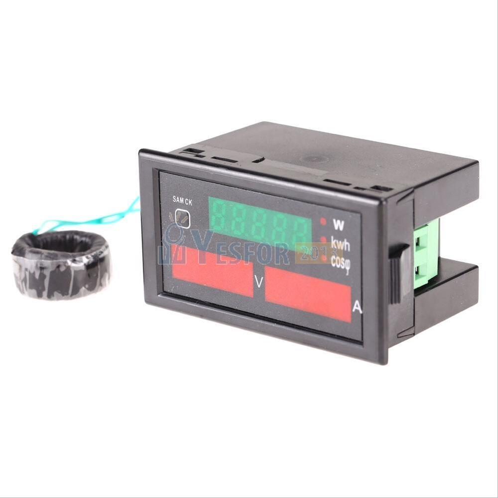 Ac Power Meter : Digital ac v a ammeter voltmeter watt power