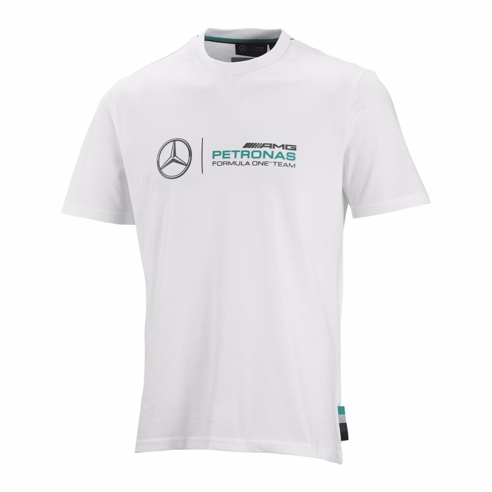 Mercedes Amg Petronas  Team Long Sleeve T Shirt White