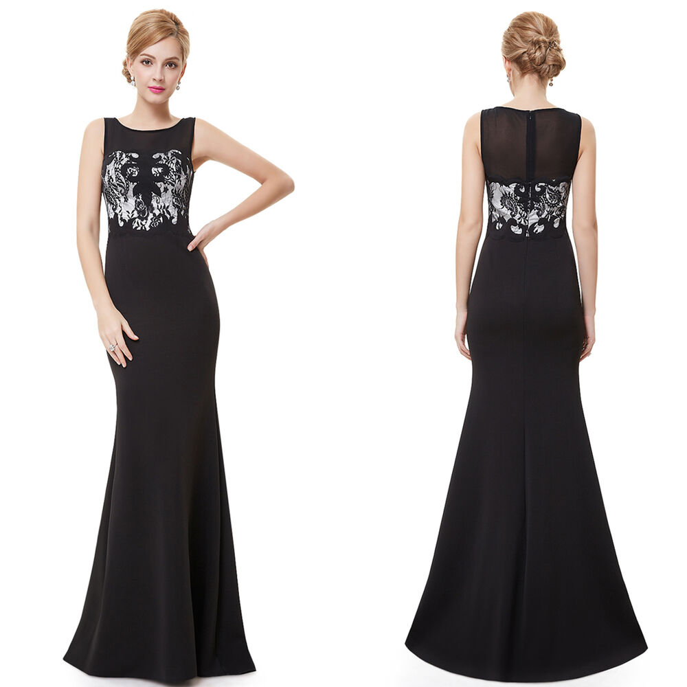 Ever Pretty US Black Evening Party Gown Mermaid Long